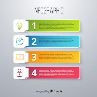 Infographik vorlage im bunten farbverlauf stil