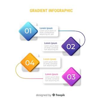 Infographik vorlage im farbverlauf stil