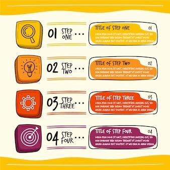 Infographik vorlage in der hand gezeichnet