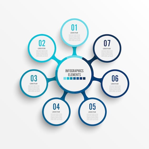 Infographik vorlage mit 3d-papier-label