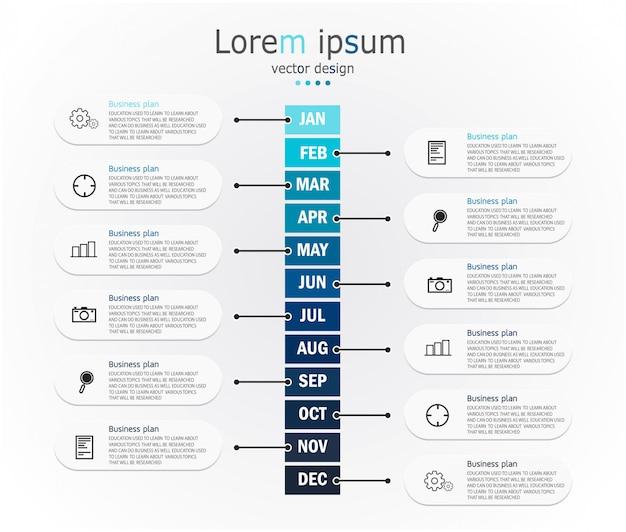 Infographik vorlage mit 3d papier