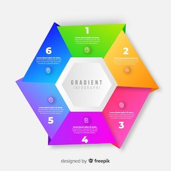 Infographik vorlage mit farbverlauf