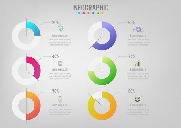 Infographik vorlage mit optionen