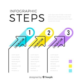 Infographik vorlage mit schritten konzept