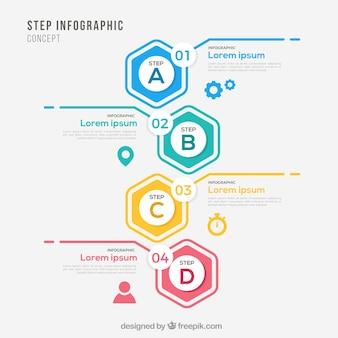 Infographik Vorlage mit Schritten