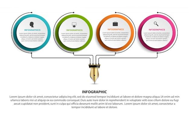 Infographik vorlage.