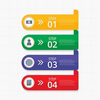 Infographische fahnen-sammlung