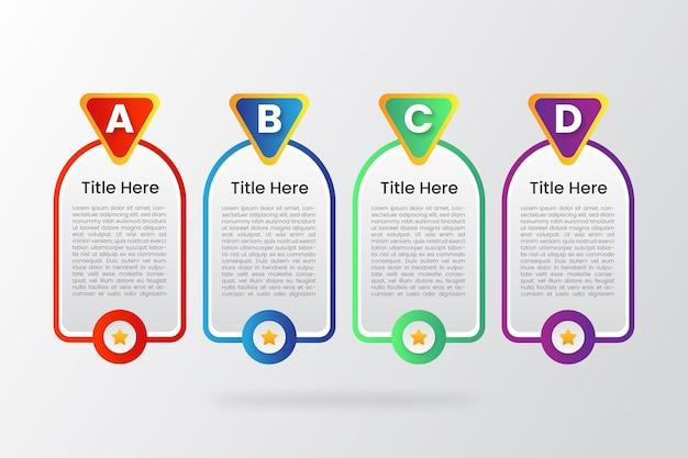 Inforgraphic schablonenvektor des kreativen farbverlaufs