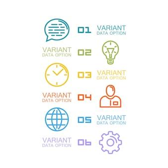 Informationen satz von symbolen kunst. vektor-illustration
