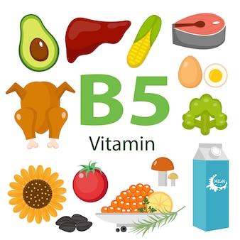 Informationen zu gesundheitlichen vorteilen von vitamin b5