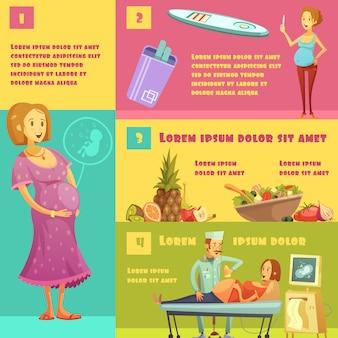 Informationen zu schwangerschaftsstadien mit teststreifen-kit, lebensmittelberatung und ultraschall
