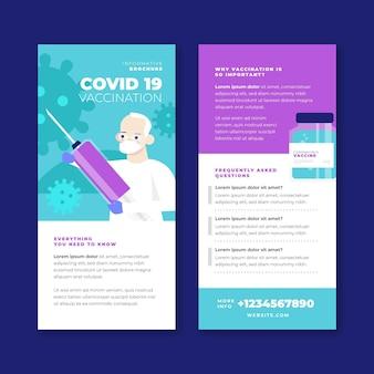 Informationsbroschüre über flache coronavirus-impfungen