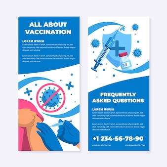 Informationsbroschüre zur flachen coronavirus-impfung