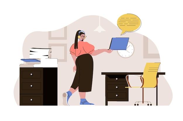 Informationsdienstkonzept betreiber kommuniziert mit kunden beantwortet fragen