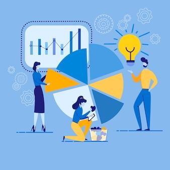 Informationsflyer produktanalyse cartoon.