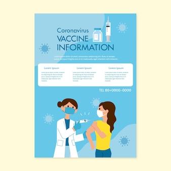 Informationsflyer zum coronavirus-impfstoff