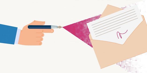 Informationsposter dokumente mit digitaler signatur
