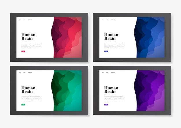 Informationssitegraphik des menschlichen gehirns