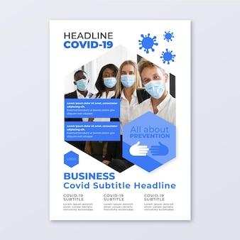 Informative coronavirus-flyer-vorlage