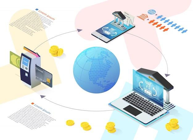 Informative flyer bank selbstbedienungsgerät wohnung.