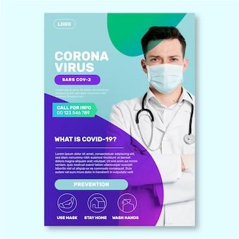 Informativer coronavirus-flyer