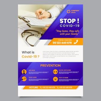 Informativer coronavirus-flyer Kostenlosen Vektoren