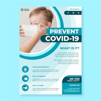 Informatives coronavirus-flyer-konzept