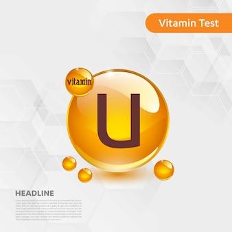 Informatives plakat des vitamin u-tests mit textschablone