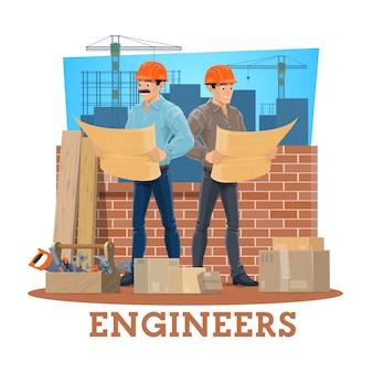 Ingenieur und architekt der bauindustrie