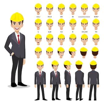 Ingenieur zeichentrickfigur