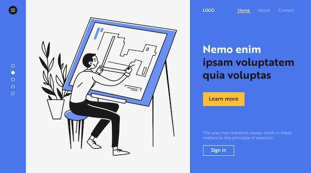 Ingenieur zeichnungshaus blaupause