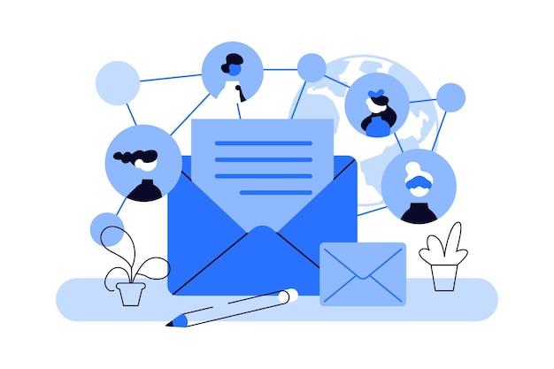 Inhalt für geschäftliches e-mail-marketing