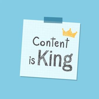Inhalt ist könig beachten sie illustration