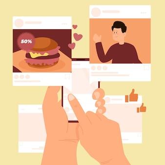 Inhalte in sozialen medien mit apps teilen