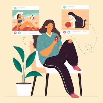 Inhalte in sozialen medien teilen