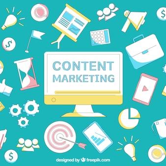 Inhaltsmarketing-elementhintergrund