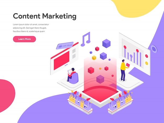 Inhaltsmarketing-illustrations-konzept