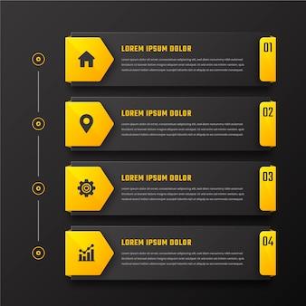 Inhaltsverzeichnis infografik mit farbverlauf