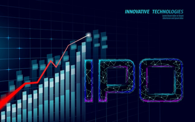 Initial coin offering ipo letters technologiekonzept