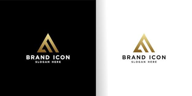 Initial e logo design schöne goldene vorlage