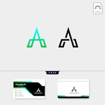 Initial eine minimale logo-vorlage