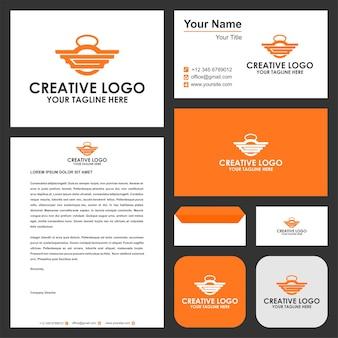 Initial g langhantel logo premium