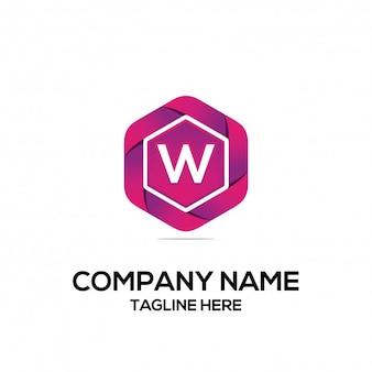 Initial logo design sechseck
