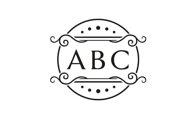 Initial / monogramm mit blumenrahmen