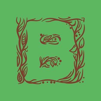 Initiale b silhouette logo