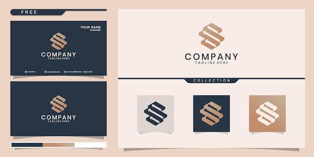 Initialen finanzlogodesign und visitenkarte