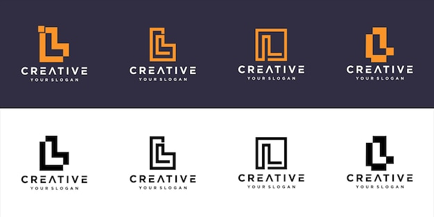 Initialen l linie monogramm logo vorlage