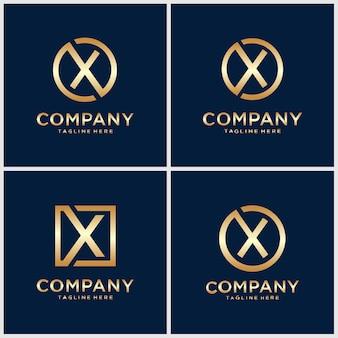 Initialen x logo design vorlage