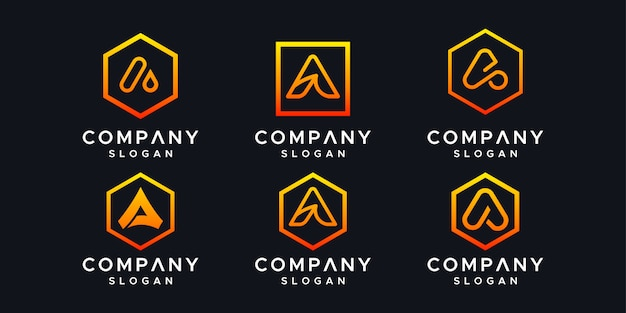 Initialisiert eine logo-design-vorlage.