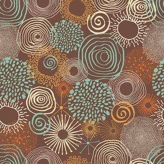 Inky farbige kreise im nahtlosen muster.